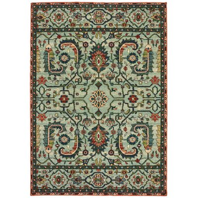 Hedberg Vintage Tribal Green Area Rug Rug Size: Rectangle 310 x 55