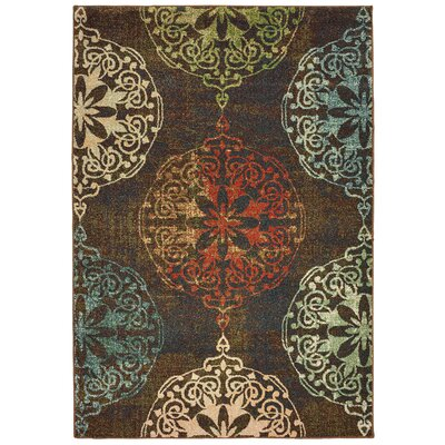 Hedberg Medallions Brown/Green Area Rug Rug Size: Rectangle 310 x 55