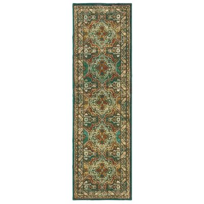 Hedberg Teal/Brown Area Rug Rug Size: Rectangle 23 x 76