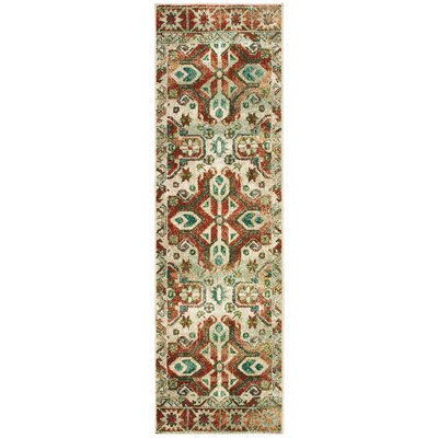 Hedberg Tribal Rust/Beige Area Rug Rug Size: Rectangle 23 x 76
