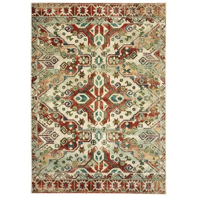 Hedberg Tribal Rust/Beige Area Rug Rug Size: Rectangle 310 x 55