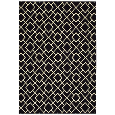 Hedden Lattice Black/Beige Area Rug Rug Size: Rectangle 910 x 1210