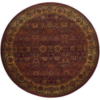 Pressley Brown Area Rug Rug Size: Round 8