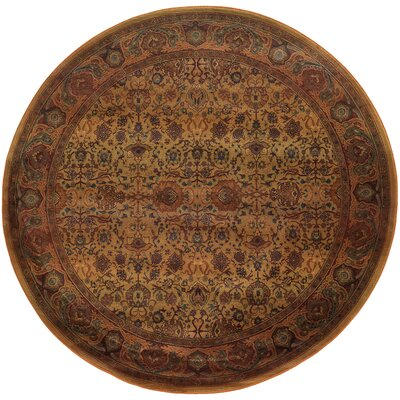 Pressley Brown Area Rug Rug Size: Round 6