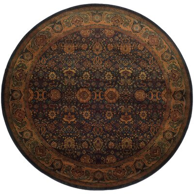 Pressley Brown/Green Area Rug Rug Size: Round 6