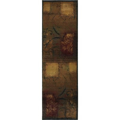 Hinson Brown/Gold Area Rug Rug Size: Runner 26 x 91
