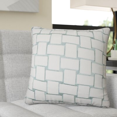 Reeve Geometric Throw Pillow Color: Aqua