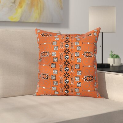 Ethnic Tribal Ornaments Cushion Pillow Cover Size: 24 x 24