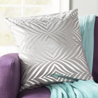 Sharonda Contemporary Throw Pillow Color: Silver Gray