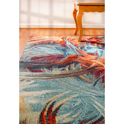 Darlene Blue Area Rug Rug Size: Rectangle 53 x 77