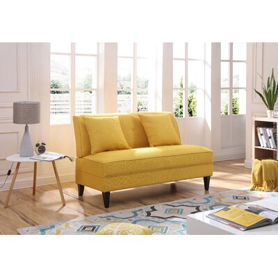 Donta Loveseat Upholstery: Yellow