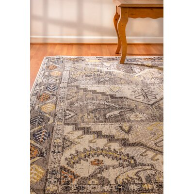 Corson Gray Area Rug Rug Size: Rectangle 53 x 77