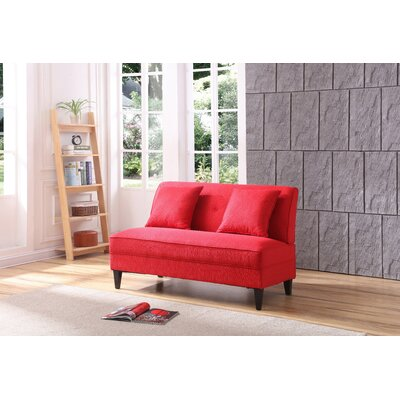 Donta Loveseat Upholstery: Red