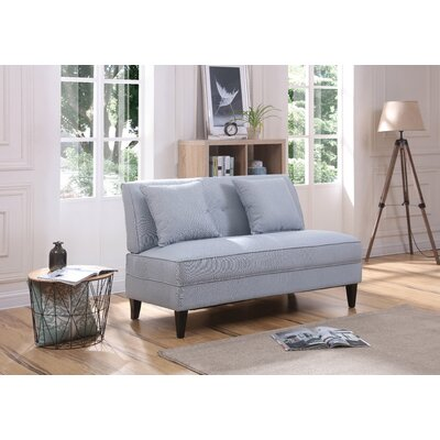 Donta Loveseat Upholstery: Light Blue