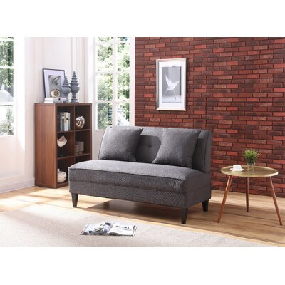 Donta Loveseat Upholstery: Charcoal