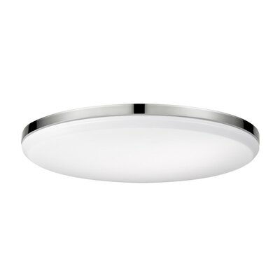Hudson Yards LED Integrated Flush Mount Fixture Finish: Chrome
