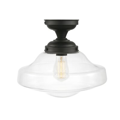 Cowie 1-Light Semi Flush Mount
