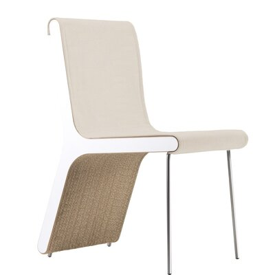 Hervey Upholstered Dining Chair Upholstery Color: Eco Leather Earth