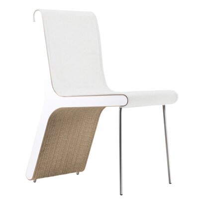 Hervey Upholstered Dining Chair Upholstery Color: White Cotton