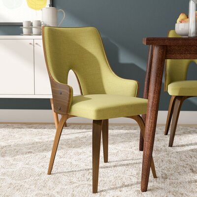 Tompson Upholstered Dining Chair Color: Green