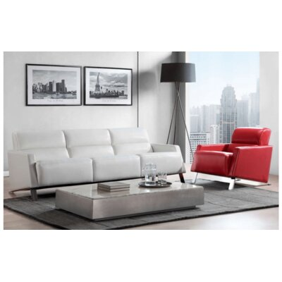 Helvey Leather Loveseat Type: Sofa