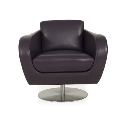 Helmick Swivel Club Chair Body Fabric: Purple