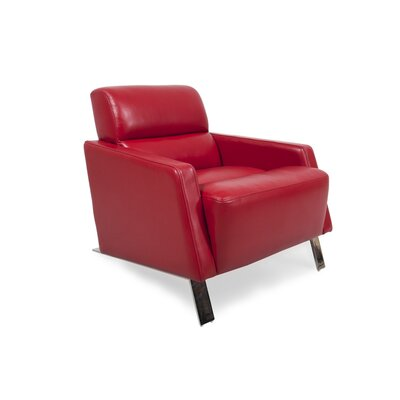 Helvey Club Chair Body Fabric: Red