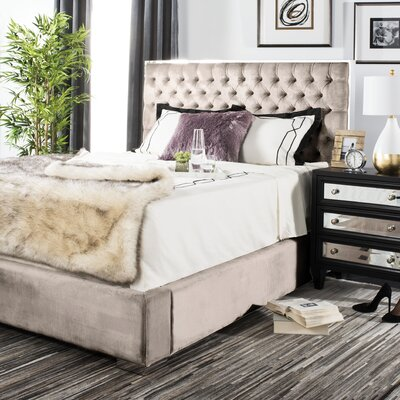 Reynaldo Upholstered Panel Bed Size: King, Color: Pearl