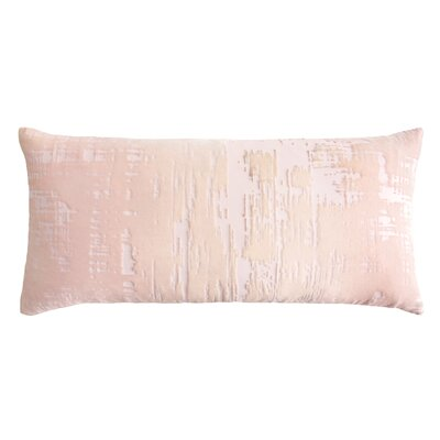 Brushstroke Velvet Lumbar Pillow Color: Blush