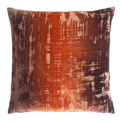 Brushstroke Velvet Throw Pillow Color: Golden Brown