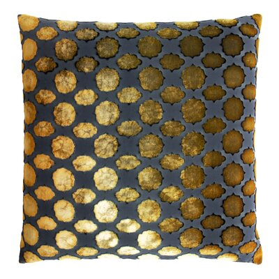Mod Fretwork Velvet Throw Pillow Color: Copper Ivy, Size: 22 x 22