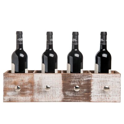 Wilmoth Drawer 4 Bottle Tabletop Wine Rack