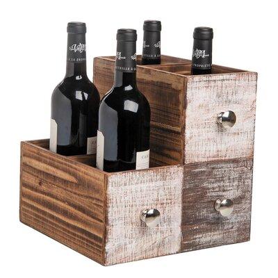 Wilner Drink Drawers 4 Bottle Tabletop Wine Rack