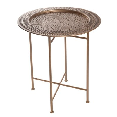 Peeples Hammered End Table