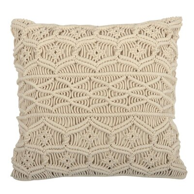 Peckham Macrame Throw Pillow