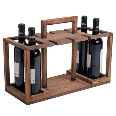 Wilks Caddy 4 Bottle Tabletop Wine Rack