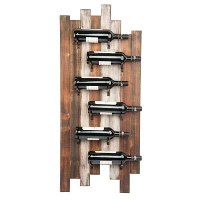 Wiltz Staggered 6 Bottle Wall Mounted Wine Rack