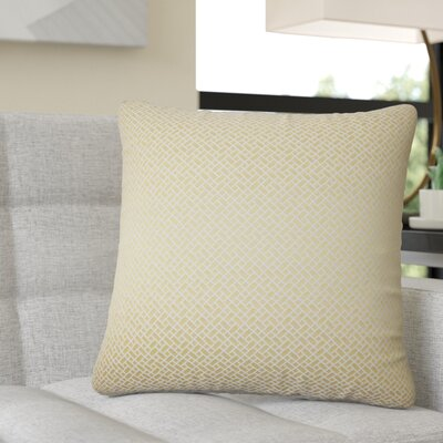 Reeser Geometric Throw Pillow Color: Buttercup
