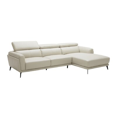 Huguley Cow Hide Sectional Upholstery: Light Gray, Orientation: Left Hand Facing