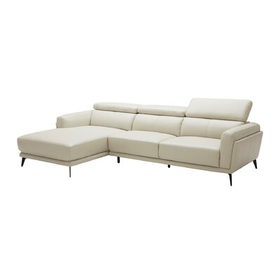 Huguley Cow Hide Sectional Upholstery: Light Gray, Orientation: Right Hand Facing