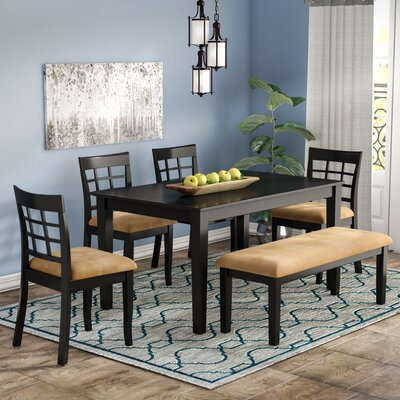 Oneill 6 Piece Wood Dining Set
