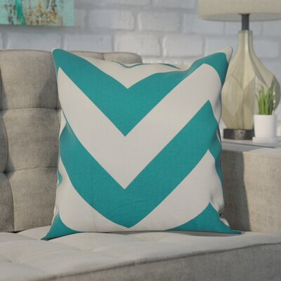 Spadafora 100% Cotton Throw Pillow Color: Turquoise, Size: 20 H x 20 W