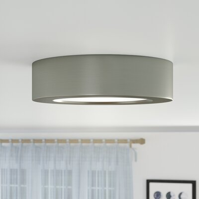 Oscar 1-Light 3000K Flush Mount Finish: Brushed Nickel