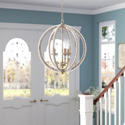 Clarice 3-Light LED Candle-Style Chandelier Finish: Antique Linen