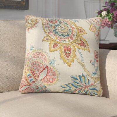 Siv Paisley Linen Throw Pillow