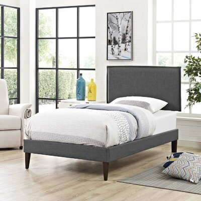 Craighead Upholstered Platform Bed Color: Gray, Size: King