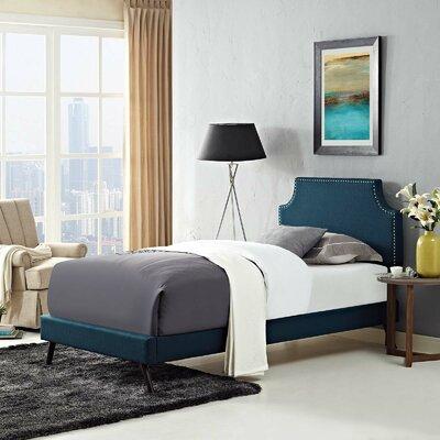 Craighead Twin Upholstered Platform Bed Color: Azure