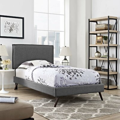 Craighead Upholstered Platform Bed Color: Gray, Size: Queen