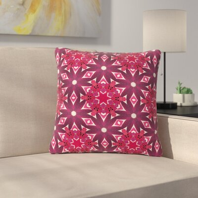Laura Nicholson Blooming Echinacea Floral Outdoor Throw Pillow Size: 18 H x 18 W x 5 D