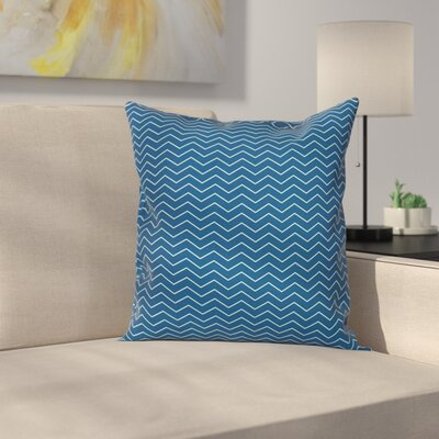 Chevron Lines Cushion Pillow Cover Size: 20 x 20